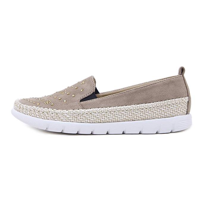 Morbuy Alpargatas para Mujer, Zapatos Planos Ocasionales Loafer Zapatos Moda Rhinestone Cuerda de cáñamo Banda elástica 35-42: Amazon.es: Ropa y accesorios