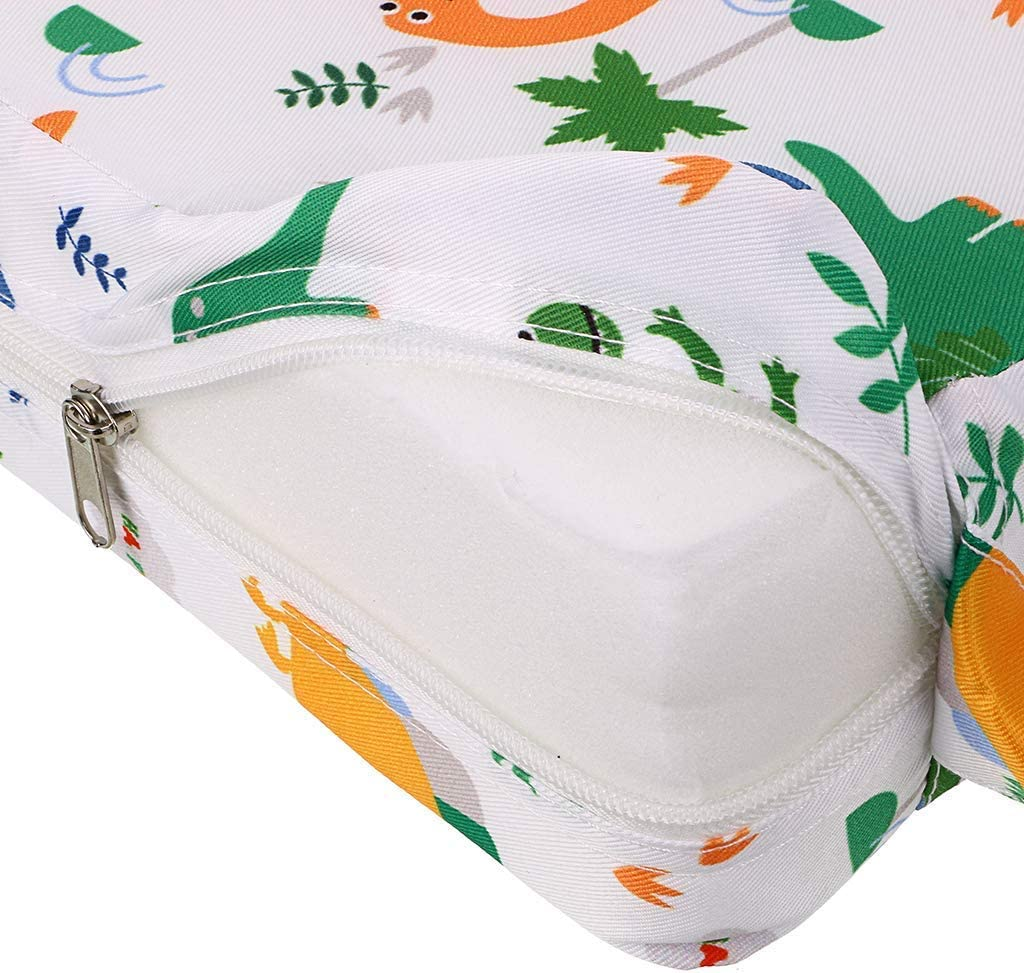 Chair Portable Booster Seat Cushion Travel Dining Seat Pad for Toddler Kids Baby Infant Dinosaur Patterns Washable Thick Chair Seat Pad