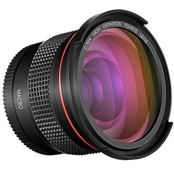 Neewer 58 mm 0.35 X Pro Macro Fisheye objectif grand angle avec macro Close- up 9e86874df666
