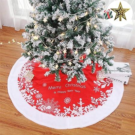 Falda del árbol de Navidad, Odot 122cm Suave Alfombra de Árbol ...