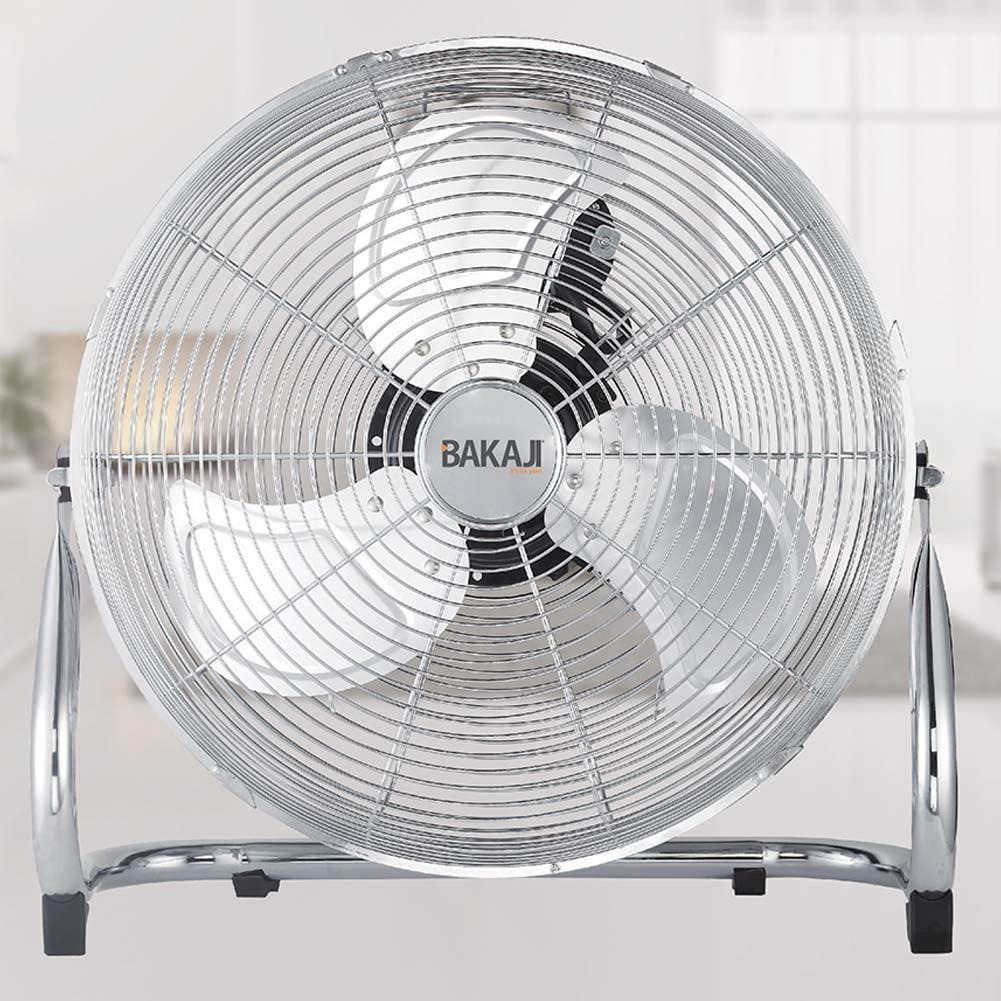 Bakaji 2832388 - Ventilador de pie de metal con aspas de 50 cm de aluminio inclinables y motor de 3 velocidades, potencia 100 W: Amazon.es: Hogar
