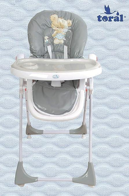 modelo Ecopiel rosa Trona para beb/é regulable doble bandeja