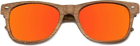 Gafas de sol reflectantes Revo con borde de cuerno y lentes de color de imitación