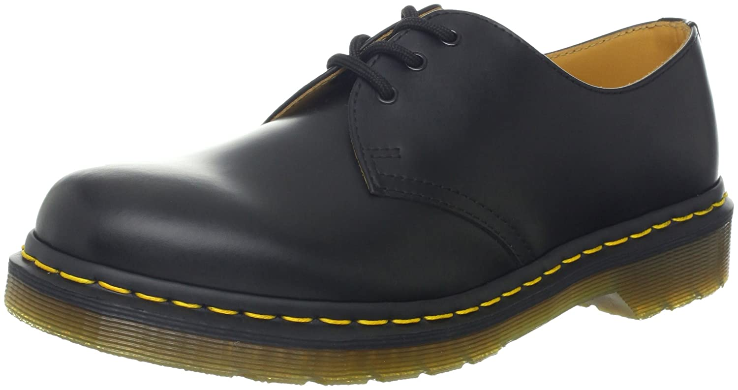 Dr. Martens Pw, 1461 Pw, Flâneurs mixte Flâneurs adulte B018S74G7Y - noir, UK EU Noir (Black Smooth/Orange) d18a64f - piero.space