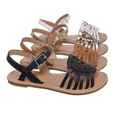 size 40 a2fe0 69c67 Kids Woven Fisherman Huarache Flat Sandal - Girl Children Festive Cinco De  Mayo Shoes