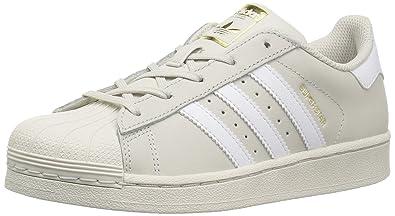 outlet store c15f7 f1ddf adidas Originals Unisex Superstar Foundation C Running Shoe  Talc,FTWWHT,Goldmt 1 Medium US