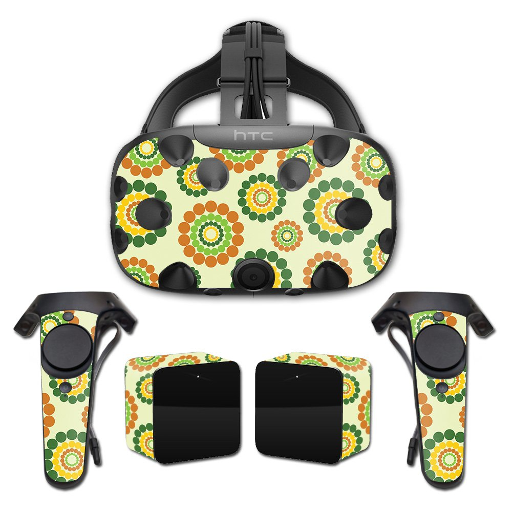 MightySkins Skin for HTC Vive Full Coverage - Hippie Flowers   Protective, Durable, and Unique Vinyl Decal wrap Cover   Easy to Apply, Remove, and Change Styles   Made in The USA
