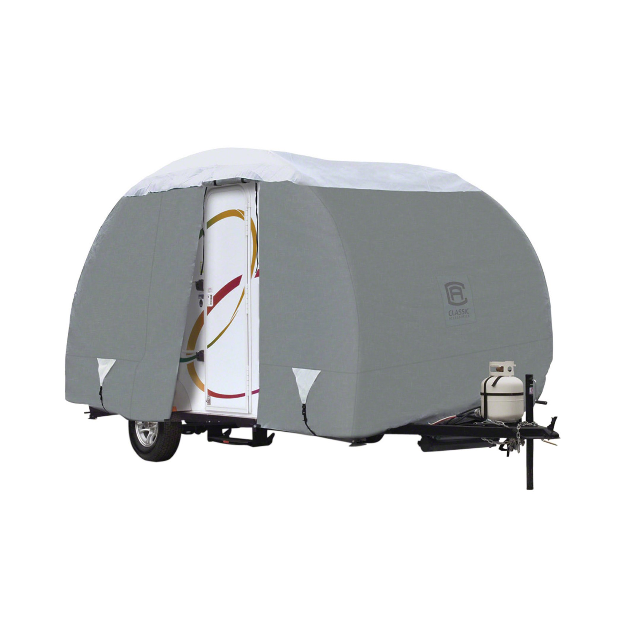 Classic Accessories OverDrive PolyPro 3 Deluxe Teardrop R-Pod Travel Trailer Cover, Model 3 by Classic Accessories