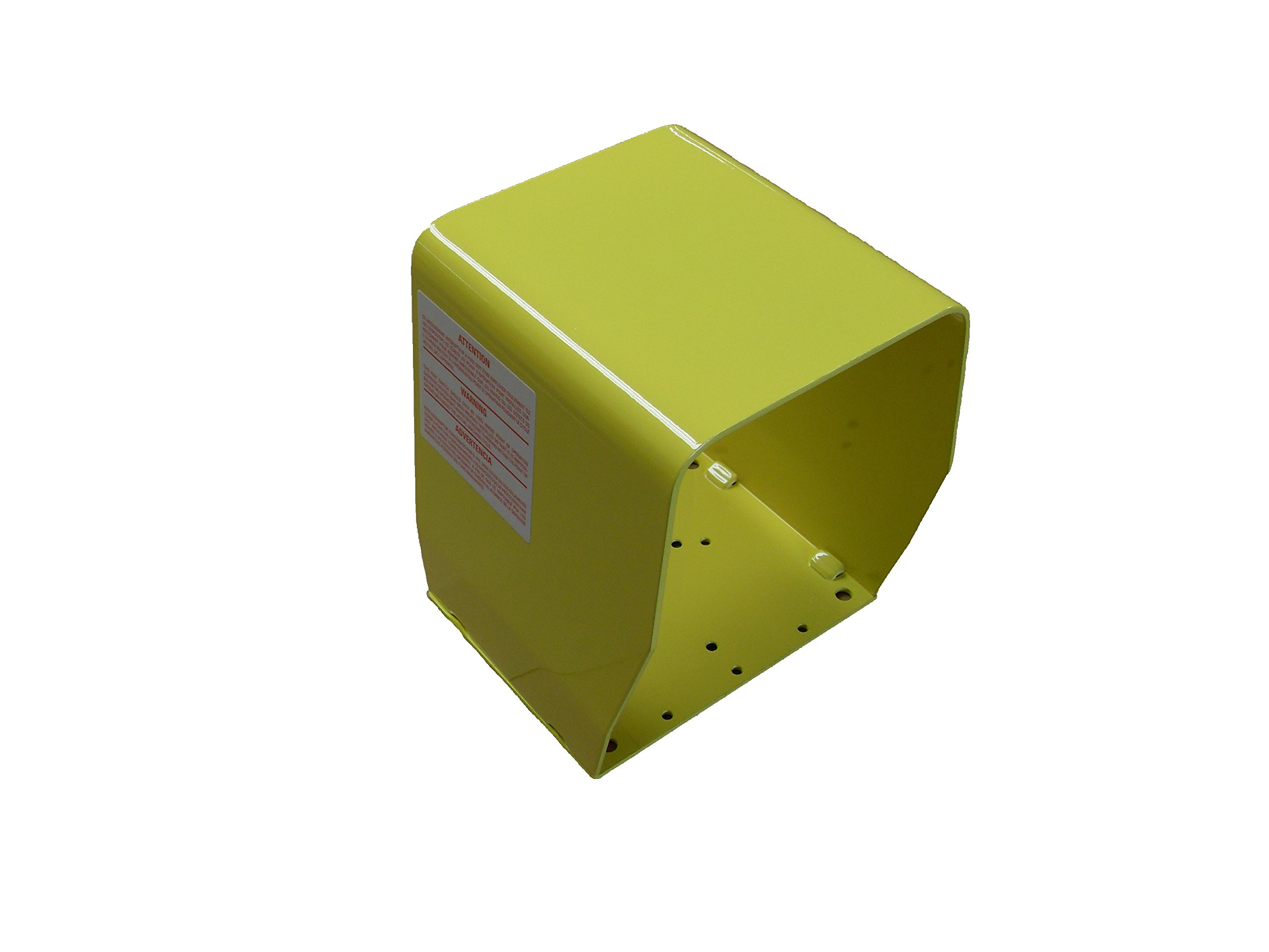 ConnTrol 864-1000-03 Tall Single Foot Switch Steel Guard, Painted Yellow