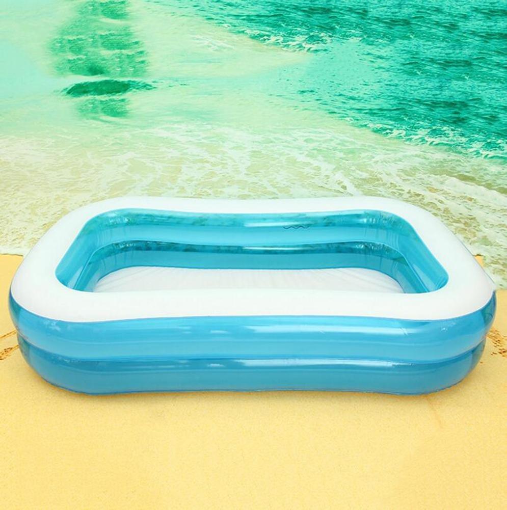 OOFWY Rechteckige Inflatable Family Pool, Blau (3 Größen)