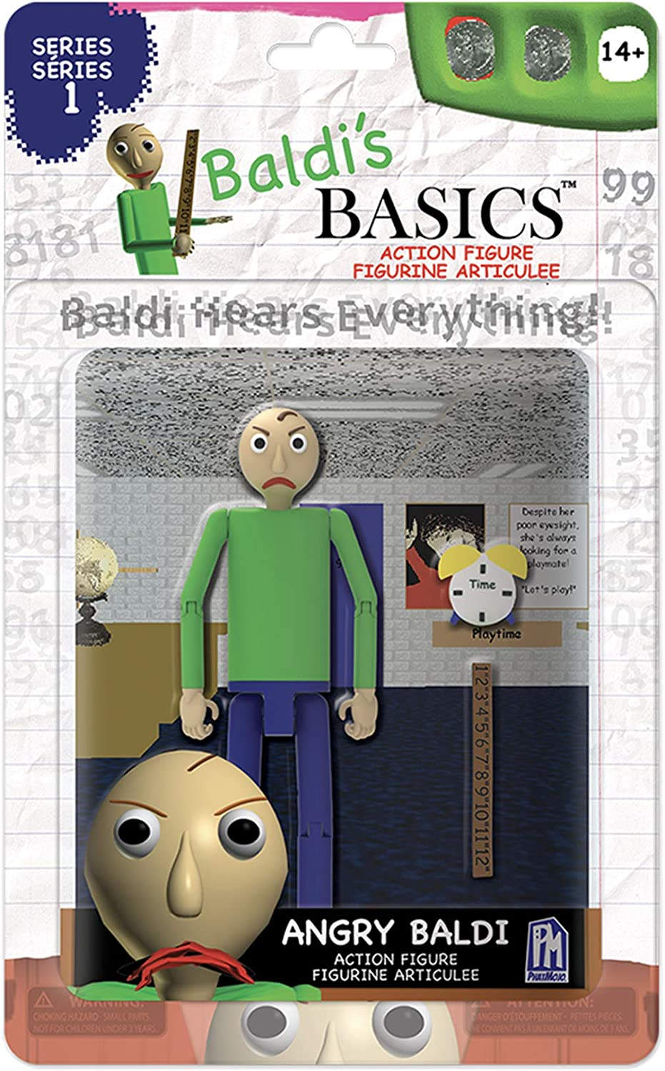 "Baldi's Basics 5"" Action Figure (Angry Baldi)"