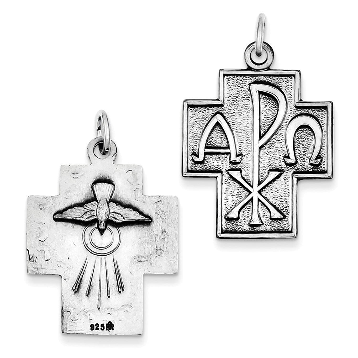 Amazon sterling silver antiqued alpha omega cross pendant amazon sterling silver antiqued alpha omega cross pendant 114 in x 087 in jewelry buycottarizona