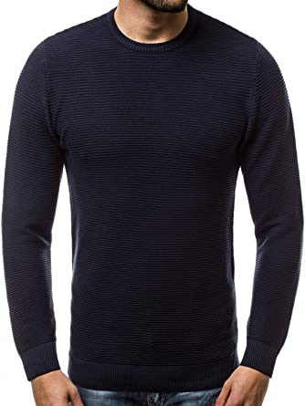 00180e74cea98d OZONEE Herren Sweatshirt Langarmshirt Pullover Basic Longsleeve J. Style  2001-20  Amazon.de  Bekleidung