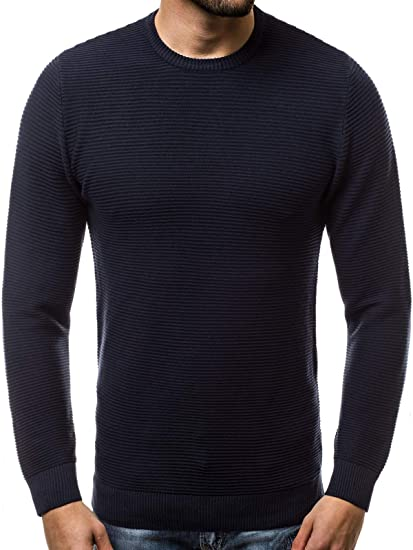 OZONEE Herren Pullover Strickpullover Arbeitspullover Farbvarianten Sweater Winterpullover Sweatshirt J. Style 2001 20