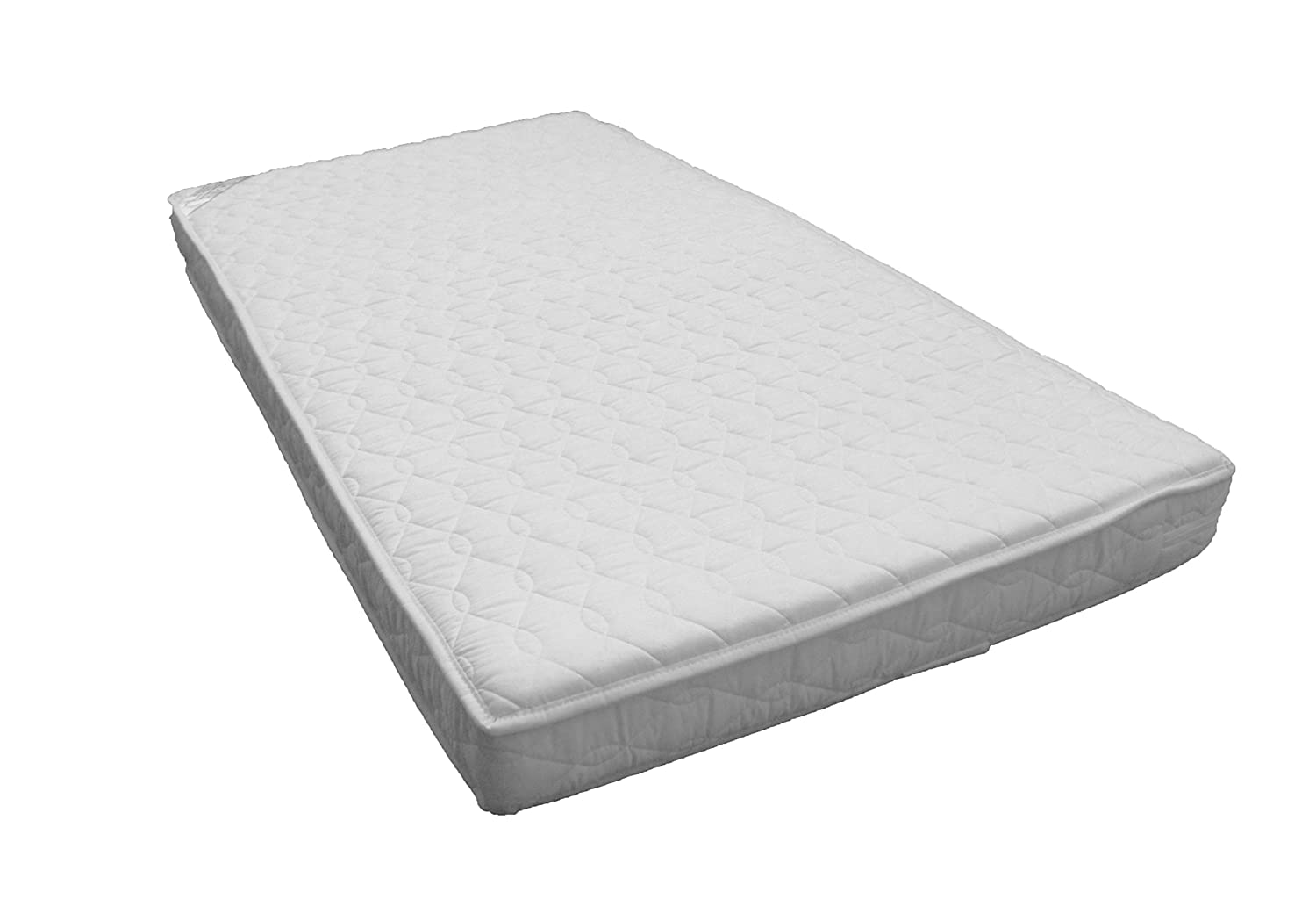 KATY® Microfibre Pocket Sprung Cot Mattress - FULLY BOUND With **TAPED EDGED** 120x60 x 10cm Thick - Will Fit M&P Cots 200 Size As Well As Other Makes : British Made With High Grade Density Foam CMHR28 BABY best BUYS BBB-POCKET120