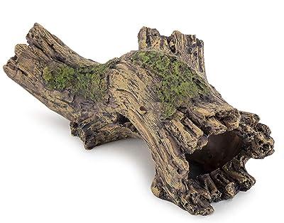 hygger Small Aquarium Ornament Poly Resin Wood Trunk Log Fish Tank Decoration