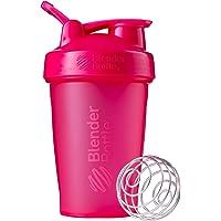 BlenderBottle Classic Loop Top Shaker Bottle, Full Color Pink, 20-Ounce Loop Top