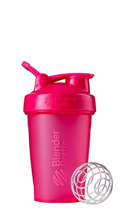 BlenderBottle Classic Loop Top Shaker Bottle, 20-Ounce, Full Color Pink - C01623