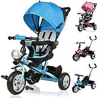 Deuba Tríciclo Infantil Azul niños pequeños y Mayores