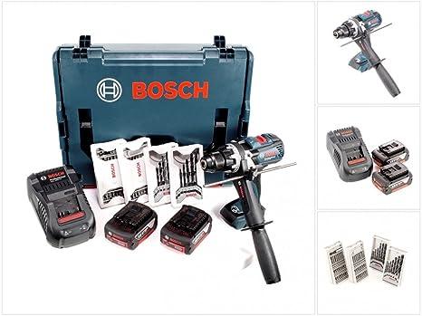 Bosch GSR 18 VE-2-LI EC Professional - Taladro atornillador con 2 x ...