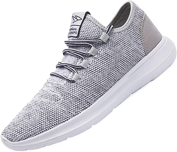 Amazon.com | KEEZMZ Men's Running Shoes Fashion Breathable Sneakers Mesh  Soft Sole Casual Athletic Lightweight | Road Running