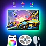 TV Light Strip, Govee USB LED Strip Lights for 40-60 inch TV PC Laptop 6.56Ft LED TV Backlight Kit Upgraded App Control with 16 Million DIY Colors, Cool/Warm White, Scene Modes and Timer Setting (Color: Multicolor, Tamaño: 6.56 Feet)