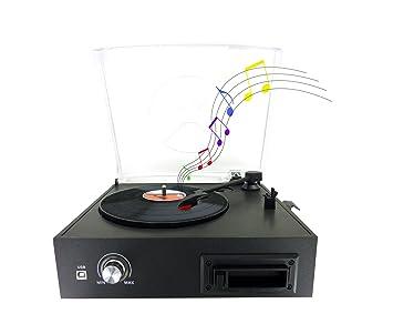 Tocadiscos Vinilo – célula de lectura cerámica Ruby – 33/45/78 RPM,