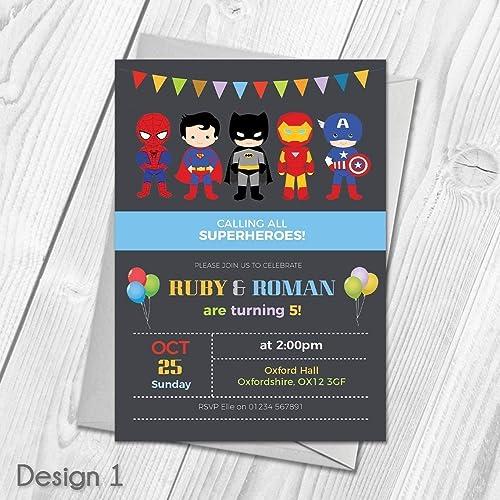 Personalised Superhero Invitations