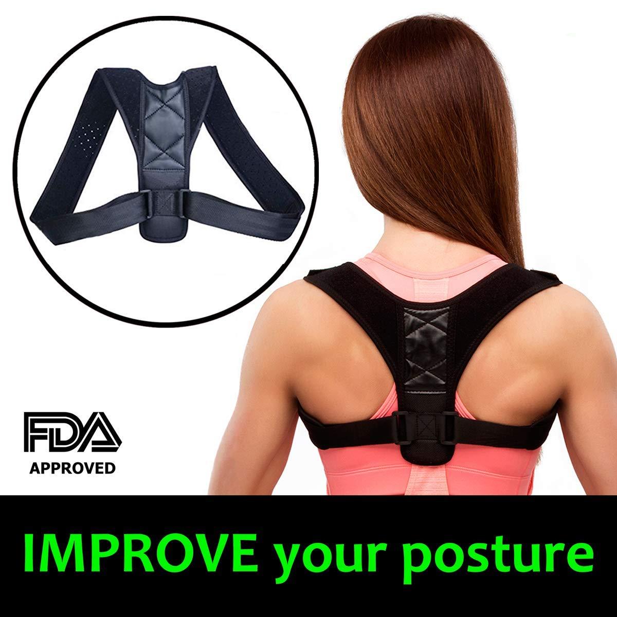 Back Posture Corrector for Women - Adjustable Shoulder Posture Corrector Brace for Men