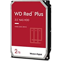 "Western Digital WD Red Plus 2TB 3.5"" NAS HDD SATA3 5400RPM 64MB Cache CMR 24x7 NASware 3.0 Tech 3yrs wty"
