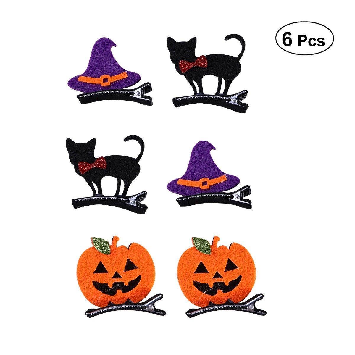 Amazon.com: Frcolor 6Pcs Halloween Hair Clips Hair Pins ...