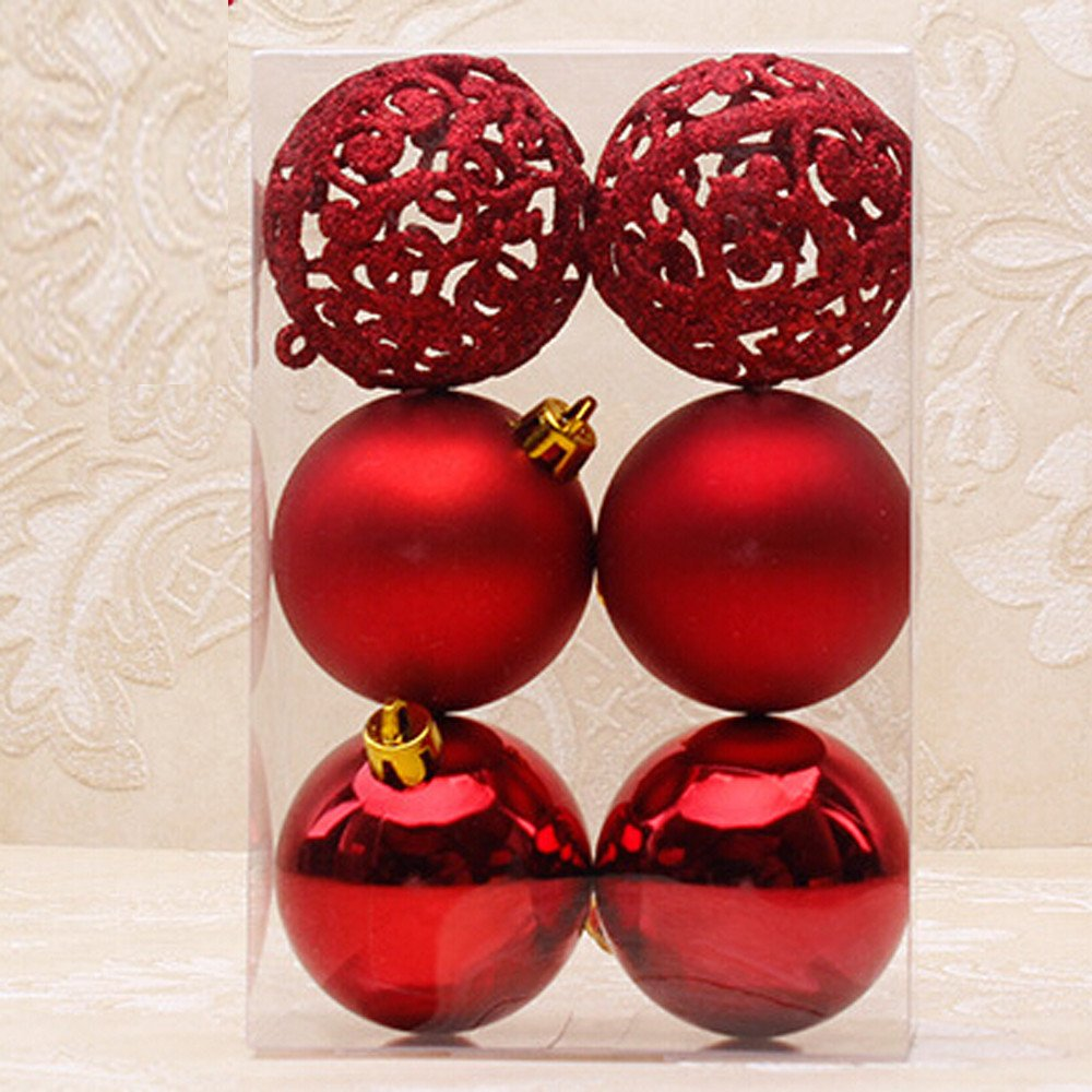 Special Christmas Ornaments.Clearance Tuscom 6pcs 6cm Christmas Decoration Ball For Christmas Tree Party Wedding Ornament