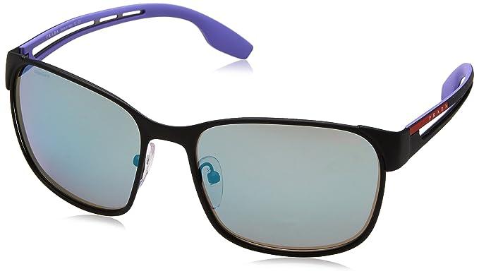 Prada Sport Herren Sonnenbrille 0PS52TS DG0140, Schwarz (Black Rubber/Grey), 59