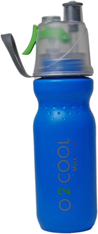 O2 Cool Mist N Sip Drinking /& Misting Bottle ArcticSqueeze Classic 20oz Purple
