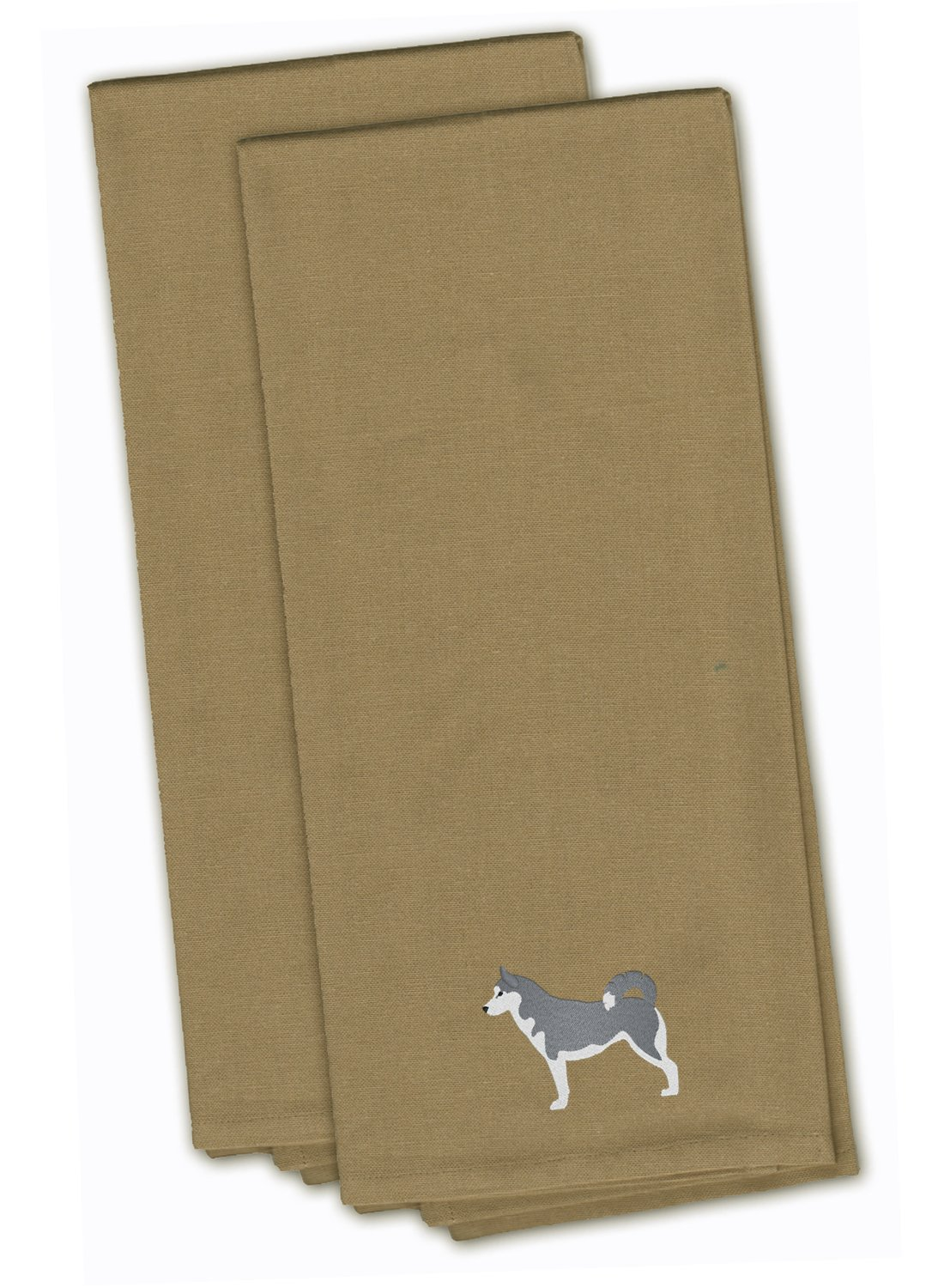 Carolines Treasures BB3440TNTWE Brussels Griffon Tan Embroidered Kitchen Towel Multicolor Set of 2 28 x 19