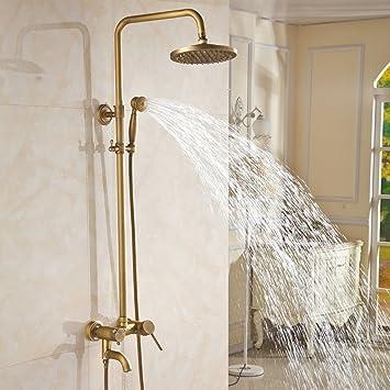 MoMo Duschset Badezimmer Antik Duschset Komplett Kupfer Retro ...