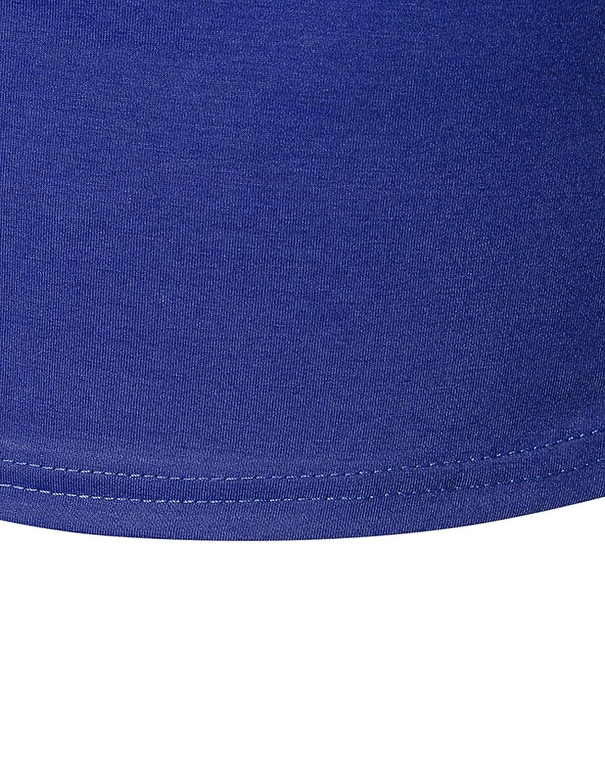 STTLZMC Basic Camicetta Maglietta Lunghe Uomo Irregolare Maglia T-Shirt Solid