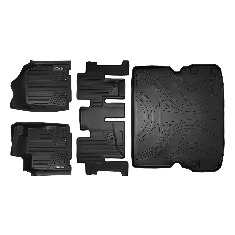 2013 JX35 2014-2019 QX60 SMARTLINER Floor Mats 2 Rows and Cargo Liner Behind 2nd Row Set Black for 2013-2019 Pathfinder