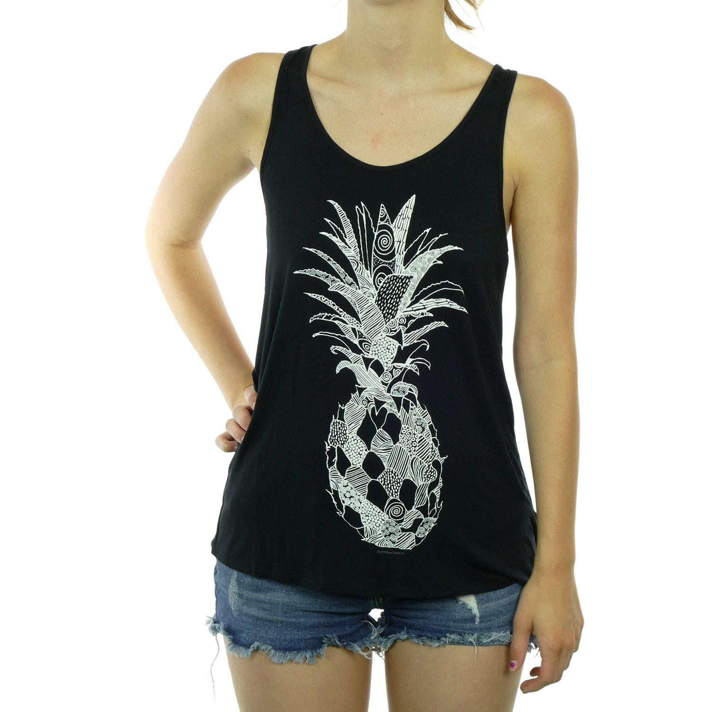 Artsy Pattern Pineapple Women's Tank Top