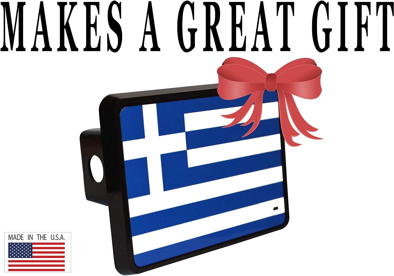 Rogue River Tactical Greek Greece Flag Trailer Hitch Cover Plug Gift Idea