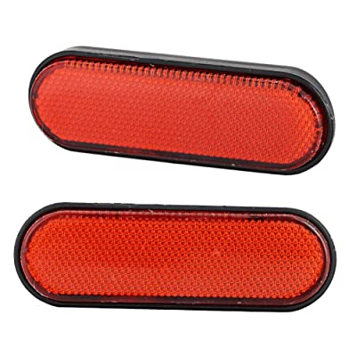 Motorcycle reflectors, 2 Pcs Plastic Motorcycle Dark areas Reflective Signal Marker Reflectors Accessory for Victory Judge Hammer-S: Sports & Outdoors