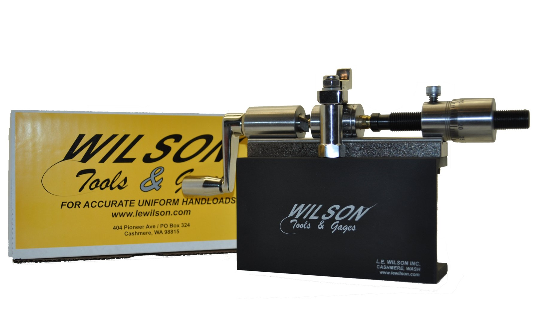 L.E. Wilson CT-SSKIT Case Trimmer Kit Stainless Steel with Micro Adjustment, Stand & Clamp Included, Stainless Steel/Black Oxide/Electro Plated