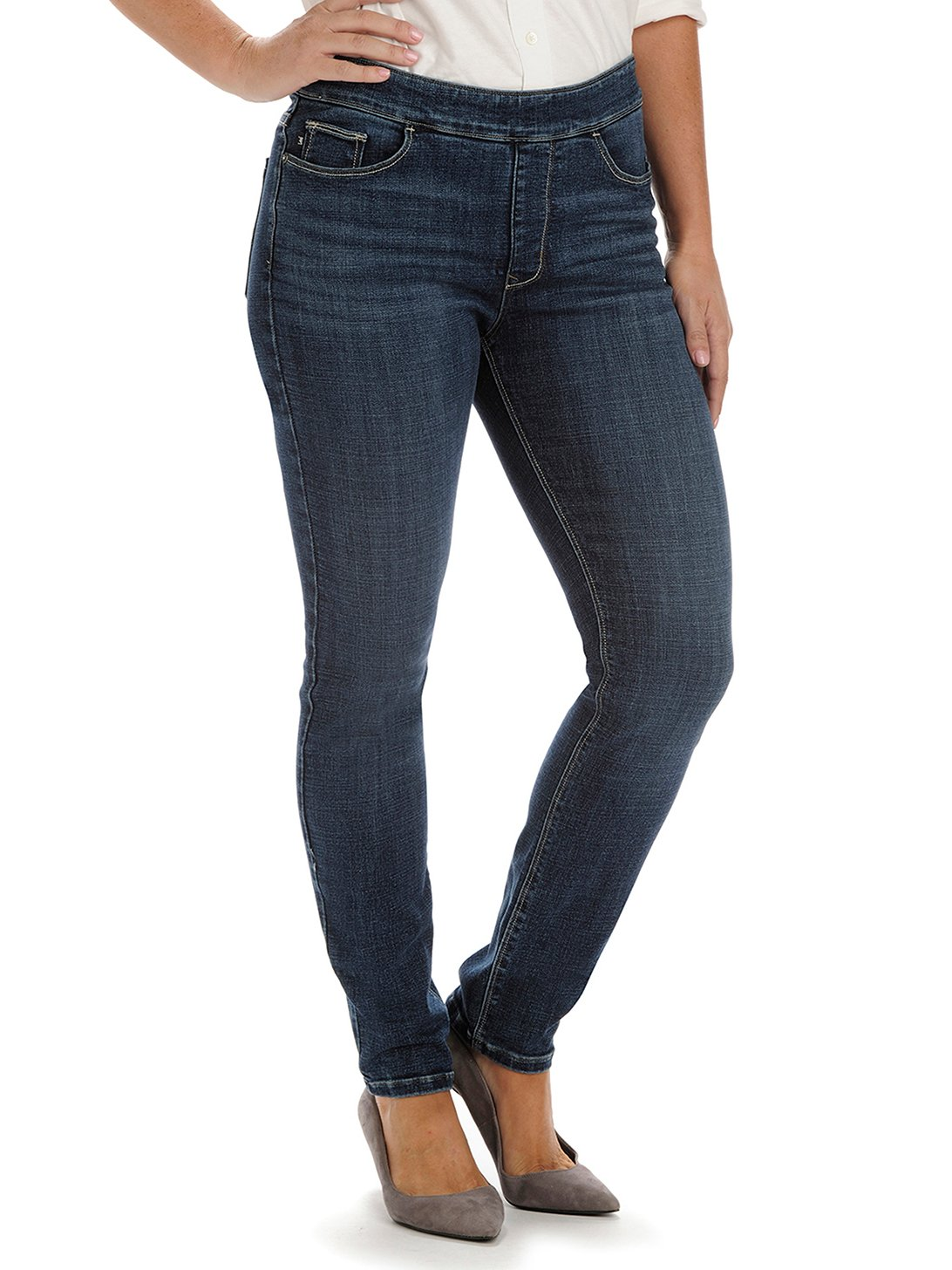 Lee Women's Modern Series Midrise Dream Jean - Harmony Legging, Lakeshore, 8