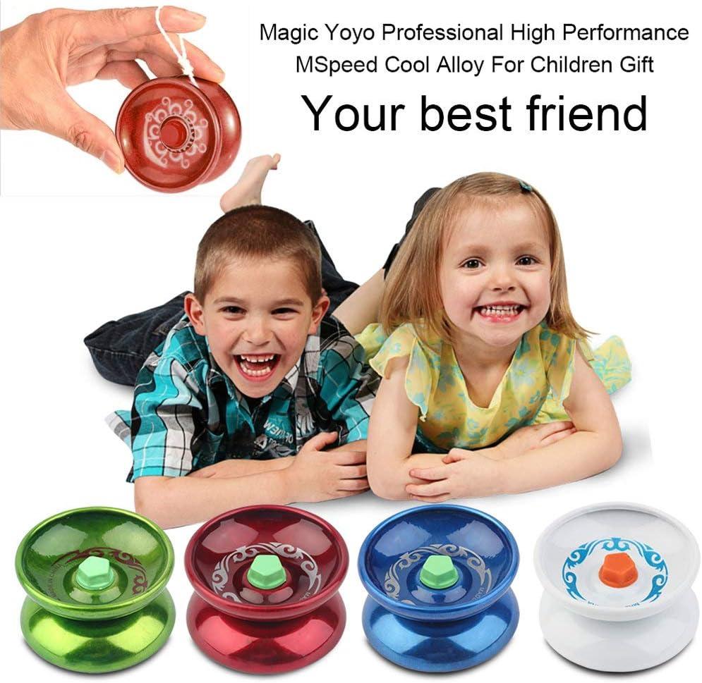 Deniseonuk Magie Yoyo Professionelle Geschwindigkeit K/ühle Legierung Yoyo Freizeit Walk Ball Hit Kinder Spiele F/ür Geschenk Zuf/ällige Farbe Lieferung