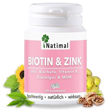Biotina y Zinc para Doblar la Piel, la Piel y Las Garras para