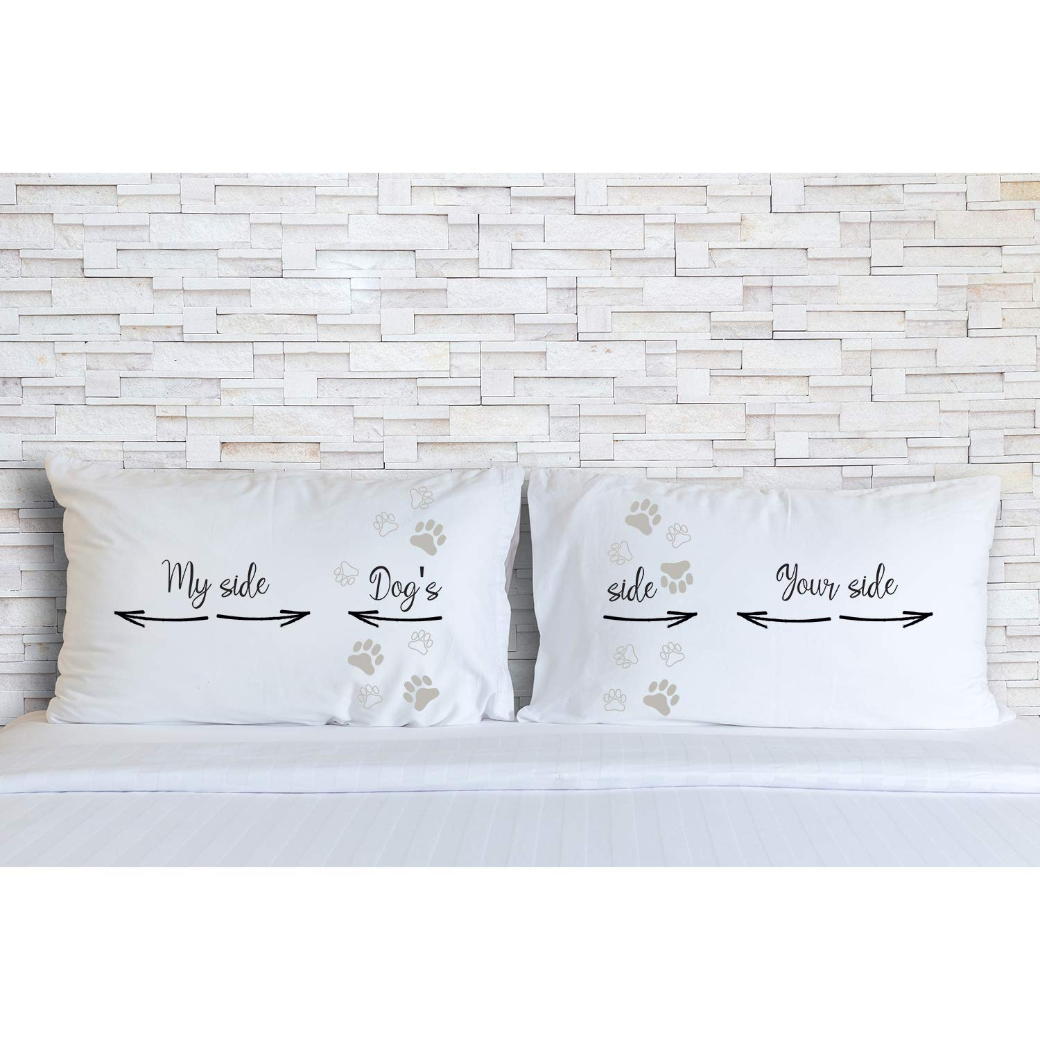Valentines Day His and Hers Birthday Rubies /& Ribbons Dogs Side My Side Your Side Pet Lovers Matching Pillowcases for Couples Set of 2 Pillow Covers