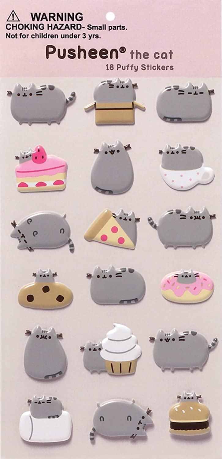 Gund Pusheen Sushi Snackable 95 Stuffed Toy Plush With Puffy Sticker Book Toys Games
