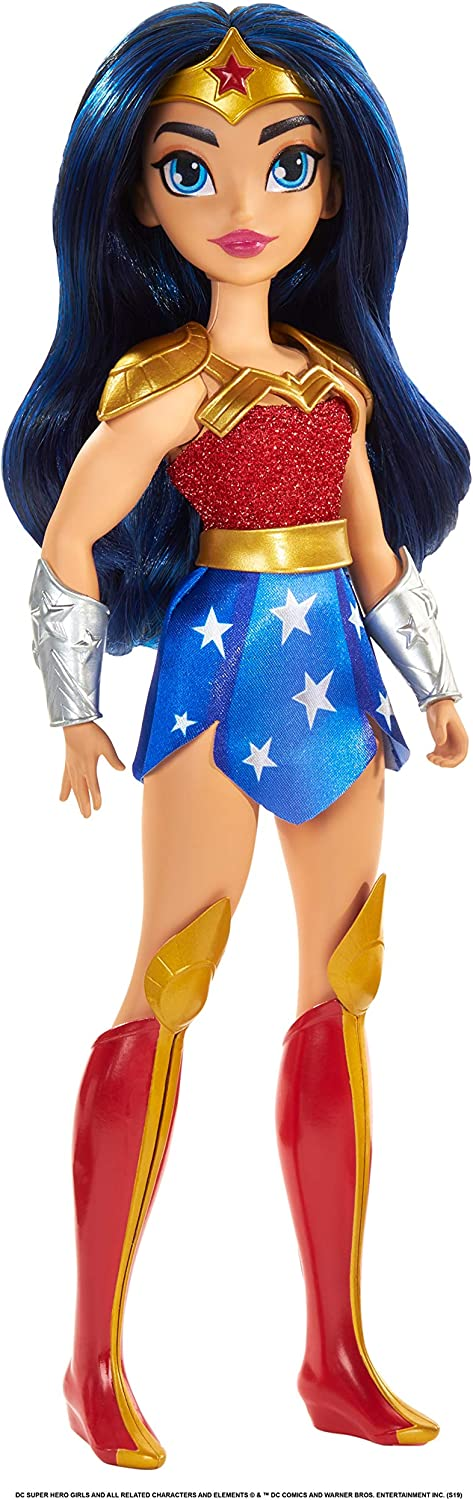 DC Super Hero Girls Wonder Woman Action Doll (Approx. 11 inches) with Removable Accessories, Wearing Iconic Outfit with True-to-Show Details, Great Gift for 6 – 8 Year Olds