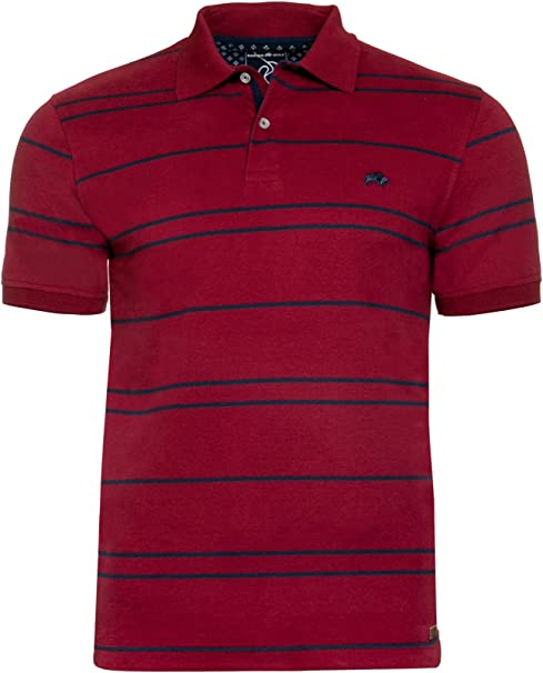 Raging Bull Camiseta Polo con diseño a Rayas, Hombre, Tram Stripe ...