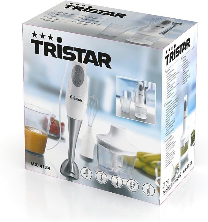 Tristar MX-4154 - Set de batidora de varilla y cuchillas de acero ...